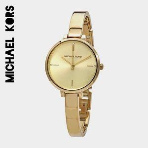 ☀️NWT☀️MICHAEL KORS Jayne Gold Tone Watch